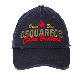 Dsquared2 Herren Baseballkappe Caten Brothers Navy Dsquared FW2017 -
