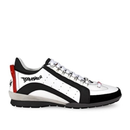 Dsquared2 Herrenschuhe Herren Leder Schuhe Sneakers 551 Weiß EU 43 W17SN434 1306 M072 -