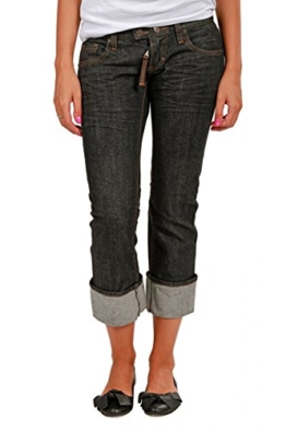 Dsquared² Damen Jeans Cropped Leg , Farbe: Anthrazit, Größe: 32 -