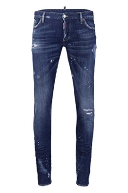 Dsquared² Herren Jeans Slim Leg SEXY TWIST, Farbe: Blau, Größe: 50 -