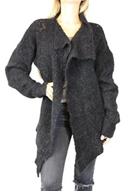 thom/krom Damen Cardigan Jacke Gr L Schwarz Alpaca Damenmode Jäkchen #O221 -