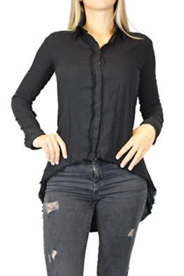 thom/krom Damen Hemd Gr XS Schwarz WH18 Damenmode Hemd Bluse #O219 -