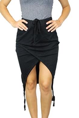 thom/krom Damen Rock Gr XS Schwarz Damenmode Skirt asymmetrisch Stretch #O198 -